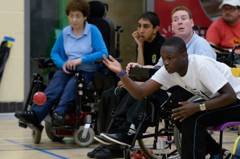 People taking part in the North West Disability Sport Games