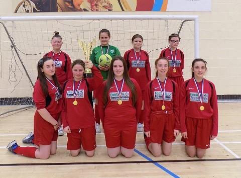 U16 Girls League winners;  Alt Bridge School