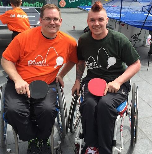 Mark Palmer (left) with Jack Hunter-Spivey