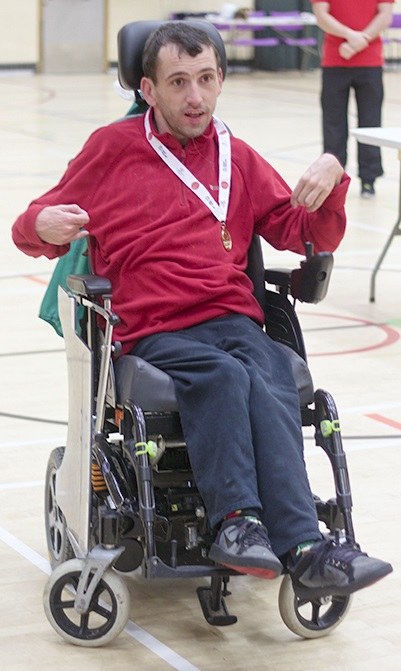 Boccia Tournament BC3 Senior medal winner Gareth Stafford