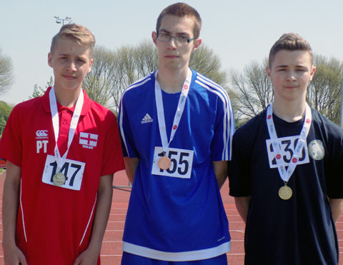 Medal winners boys 100m