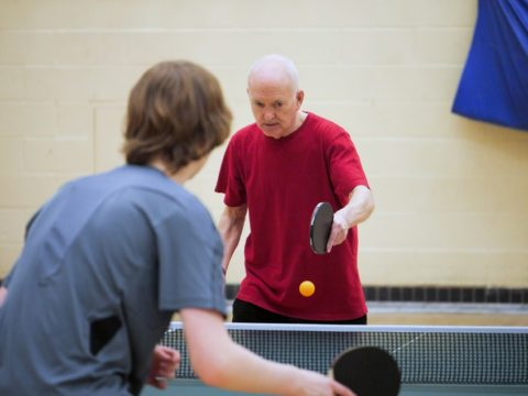 Table tennis players at Greenbank Sports Academy