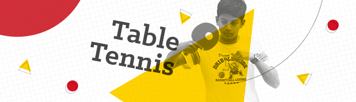 Table Tennis Player placed on a graphical background